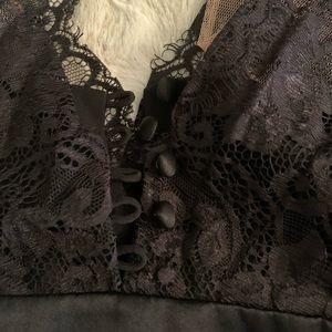 Bcbg Black Lace dress top